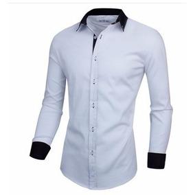 Camisa Social Masculina Slim Fit Estilo Executivo