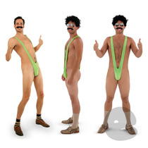 Frete Grátis Sunga Borat Mankini Original Fantasia Carnaval