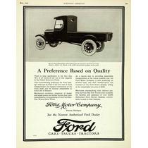 Lienzo Tela Anuncio Camioneta Ford 1924 80 X 50 Cm
