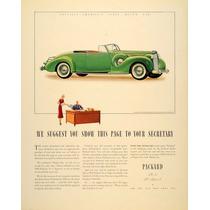 Lienzo Tela Publicidad Anuncio Auto Packard 1938 80 X 50 Cm