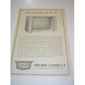 L 290/ Gfra140 Propaganda Antiga Semp Televisor Planalto