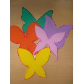 Mariposas Goma Eva 20cm - Caladas - Troqueladas - Decoración