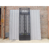 Antigua Puerta Frente Hierro Forjado 110x326cm Chapasusadas