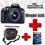 Canon Camara Profesional Eos Rebel T6 Obsequio Sd + Estuche
