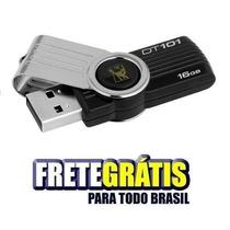 Pendrive Kingston 16gb Dt101 - Frete Grátis