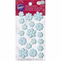Decoraciones En Glasé Frozen/copos De Nieve 18unidades