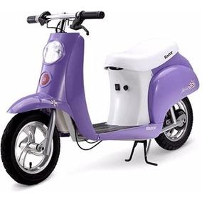 Scooter Vintage Razor Pocket Mod 24v Moto Electrica Violeta
