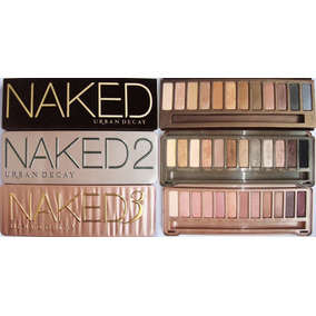 Kit Naked 1+ Naked 2+ Naked 3! Pronta Entrega Brasil