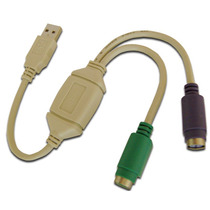 3 Cable Convertidor Adaptador Usb A Ps2 Para Mouse Y Teclado