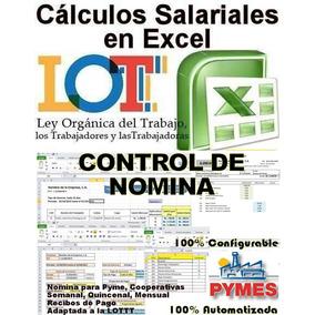 Cálculos Salariales Y Control De Nomina En Excel Combo 2x1