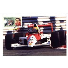 Ayrton Senna Foto Com Selo E Carimbo Comemorativo