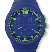 Reloj Swatch Chronos Hombre Mujer Nuevo Azul Envio Gratis