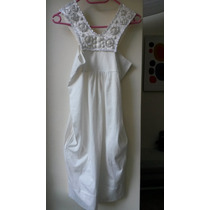 Vestido Zara Sin Etiqueta- Algodon Canesu Bordado T.small-