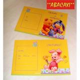 Invitacion Winnie Baby Bebe Cumpleaños X 10 Cotillon