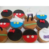 Cupcakes Mickey, Zou, Con Frases O Imagen A Eleccion