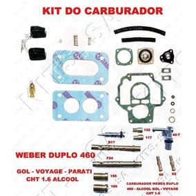Kit Carburador Weber 460 Gol/voyage/parat/sav 1.6 Cht Alcool