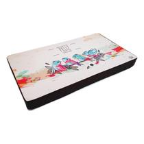 Almofada Bandeja Notebook Pássaros 54x30cm