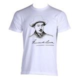 Camiseta Adulto Fernando Pessoa Poeta Poesia Literatura 01
