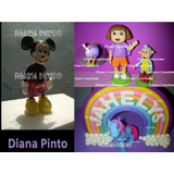 Muñecos Princesas Personajes Infantiles Masa Flexible Torta