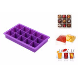 Forma Gelo Silicone 15 Cubos Forno Freezer Chocolate Bar Ice