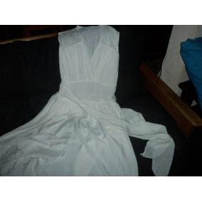 Vestido Largo Blanco Antiguedad De 1940 Blanco