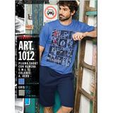 Pijama Short+remera Estampa New York Promesse Art 1012 Dor