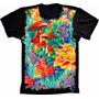 Camiseta Psicodélica Mushroom Ocean Cogumelo Alucinógeno