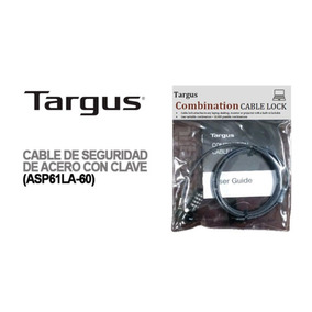 Cable Seguridad Targus Comb. Notebook Monitor Proyect 1,5mts