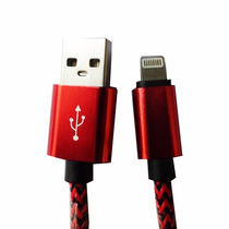 Cable Aluminio Usb Iphone 5 5s 5g 5c 6 6s 2m Rojo