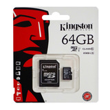 Memoria Micro Sd 64gb Kingston Original Clase 10
