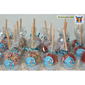 Manzanas Decoradas Cubiertas Con Chamoy O Chocolate