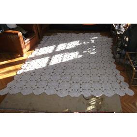 Colcha Antigua Tejida Al Crochet Grande 2.75 X 2.42 Cm