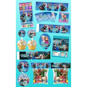 Kit Imprimible Frozen Personalizado 30 Etiquetas
