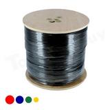 Cable Coaxil + Corriente Rg59 Siames Bobina De 305 Metros