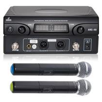 Arc-40 Microfone Arcano Sem Fio Duplo Uhf Capsula Beta