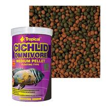 Ração Cichlid Omnivore Medium Pellet Tropical (180gr)