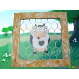 Cuadro Malla Vaca Arte Country