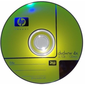 Dvd Virgen Regrabable Marca Hp + Rw 4.7gb Respalda Datos