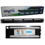 Patch Panel 24 Puertos Nisuta Ns-pa624 Cat6 Rack 19 Pachera