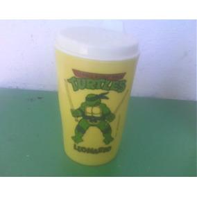 Tortugas Ninja Vaso P/leche De Plastico Leonardo Años 90