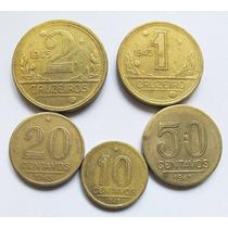 Moeda 1945 Série 10 Centavos A 2 Cruzeiros Bronze/aluminio