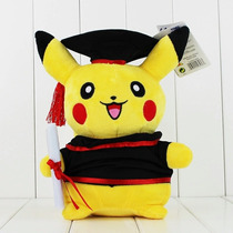 90a Peluche Pikachu Graduado 30cm Pokemon Graduacion