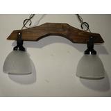 lamparas artesanal estilo campo hierro en madera la
