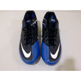 Nike Tachones Tacos Negros Con Azul Football Americano 16