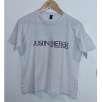 Remera Blanca Colección My World Tour Justin Bieber Talle S