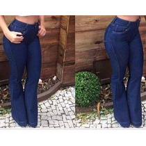 Calça Jeans Flare - Cintura Alta - Hot Pants