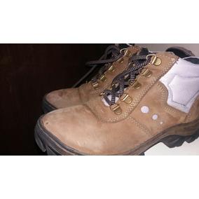 Coturno Sapato De Segurança Feminino Couro Nobuk E Lilas