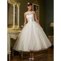 Vestido De Noiva Completo - Pronta Entrega Frete Gratis