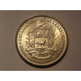 Moneda De Plata. 2 Bolívares. Año 1945