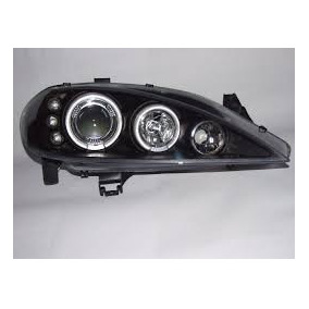 Farol Angel Eyes Led Megane 00 01 02 03 04 05 Mascara Negra